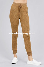 Bt-J {The Best Of Fall} Camel Soft & Stretchy Active Pants Bottoms