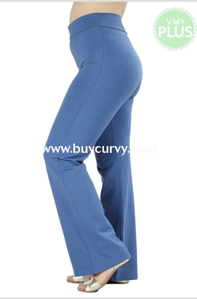 Bt-K I Like That Blue Yoga Pants With Waistband Sale! Bottoms