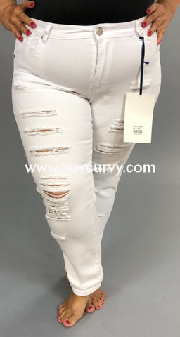 Bt-K White Pants With Ripped Detail Sale! Bottoms