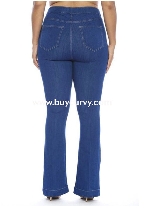 Bt-M {American Bandstand} Wide-Leg Stretchy Jeans Bottoms