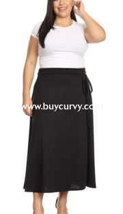 Bt-M {Nothing Compares To You} Black Overlap Skirt Bottoms