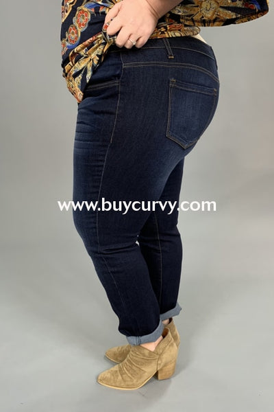 Bt-N {Moody Blues} Stretchy Denim Straight-Leg Jeans Bottoms