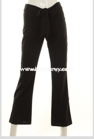 Bt-N Stay True Black Pants With Bow Front Detail Sale! Bottoms