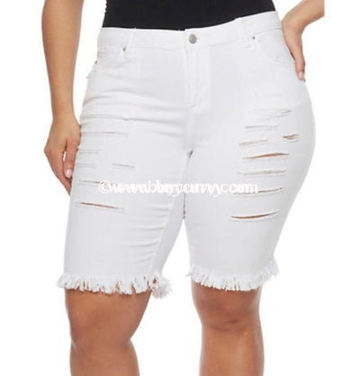 Bt-Q Almost Famous Slashed Denim Bermuda Shorts Sale! Bottoms