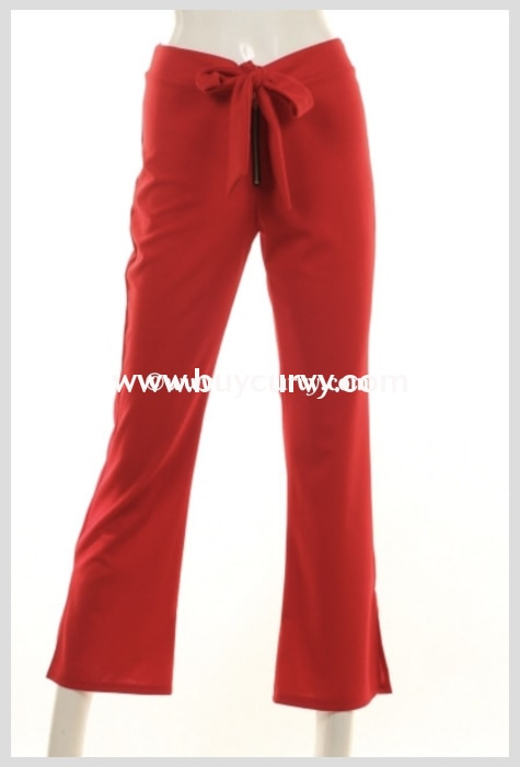 Bt-R How Lovely Red Pants With Bow Front Detail Sale! Bottoms