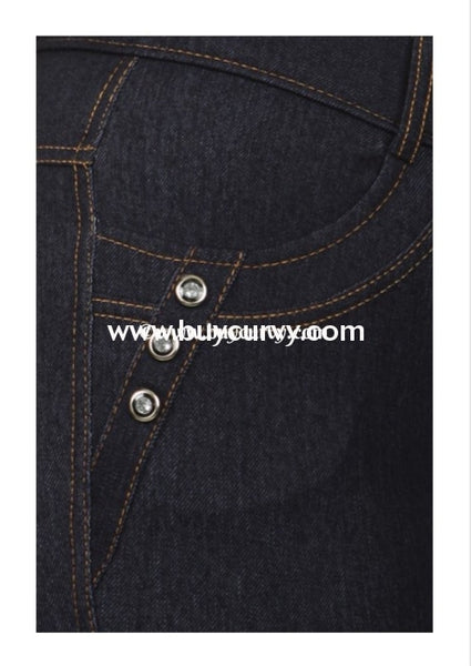 Bt-R Navy Jeggings With Rhinestone Button Detail Sale! Bottoms