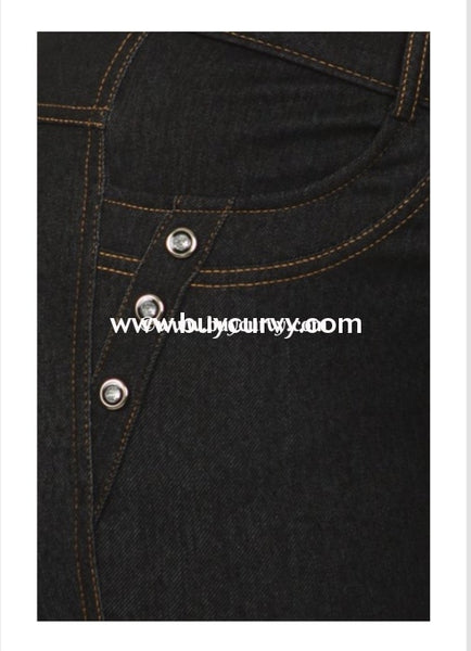 Bt- U Black Jeggings With Rhinestone Button Detail Sale! Bottoms