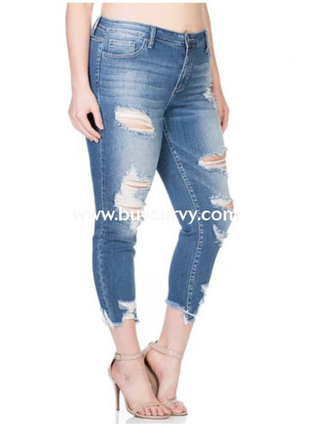 05e0d58ecf462 Bt-W  Beale Street  Ripped Crop Skinny Jeans  Stretchy!  Bottoms