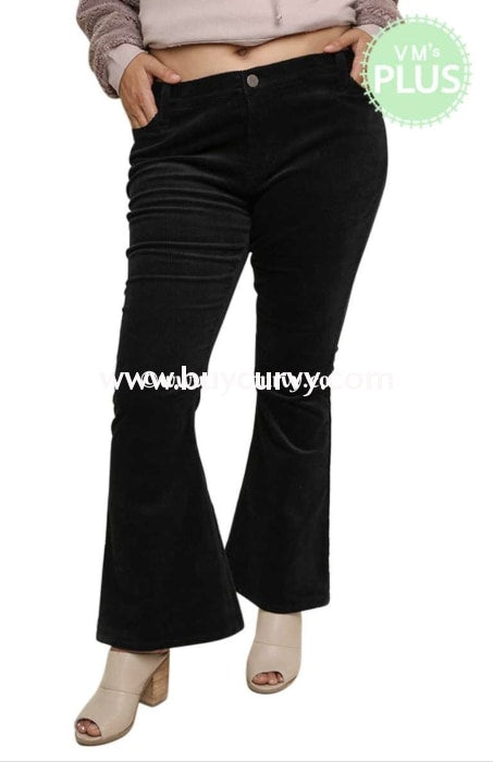 Bt-Y {The Choice Is Yours} Black Corduroy Bell-Bottom Sale! Bottoms