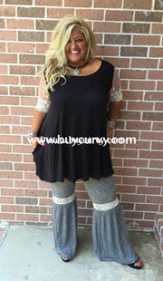 Bt-Z Slate Grey Bell-Bottom With Crochet Band Sale! Bottoms