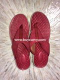 Clarks Privo Red Suede Felt Flip Flops (Comfortable) Shoes