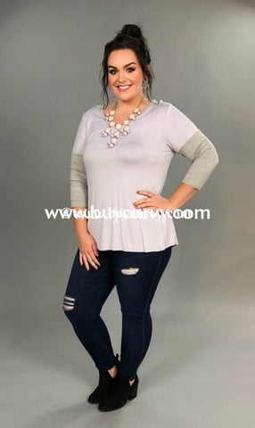 Cp-A Lavender With Gray Sleeves Sale!! Contrast