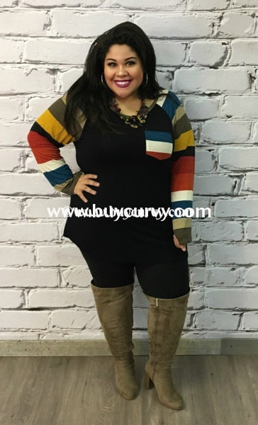 Cp-C Black With Striped Contrast Sleeves Sale!!