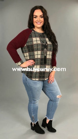 9503cc0a9a3bf Cp-K Rosewood Plaid With Solid Sleeves Sale!! Contrast