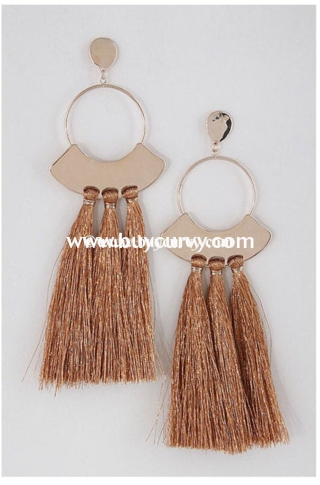Ear-B Dorothy Copper Tassel Earrings