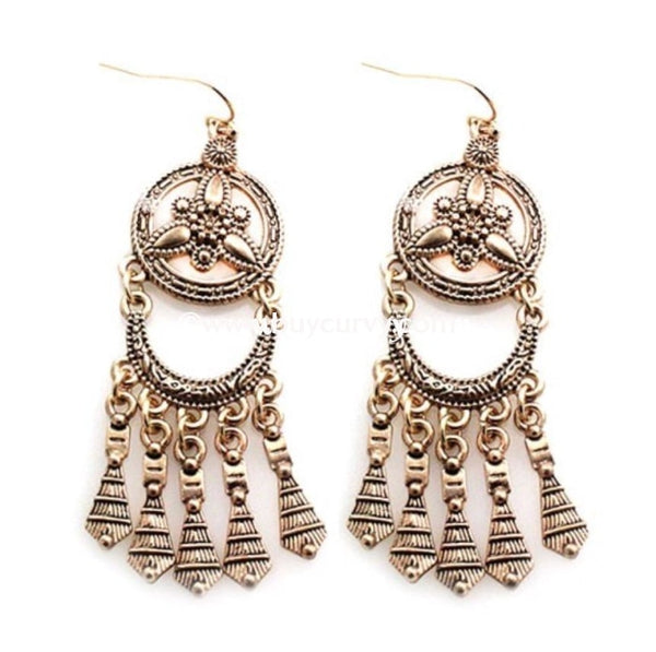Ear-C Gold Egyptian Style Earrings