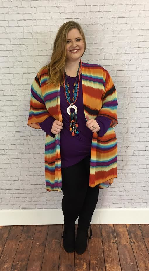 "#9-K ""Now & Forever"" Colorful Cardigan"