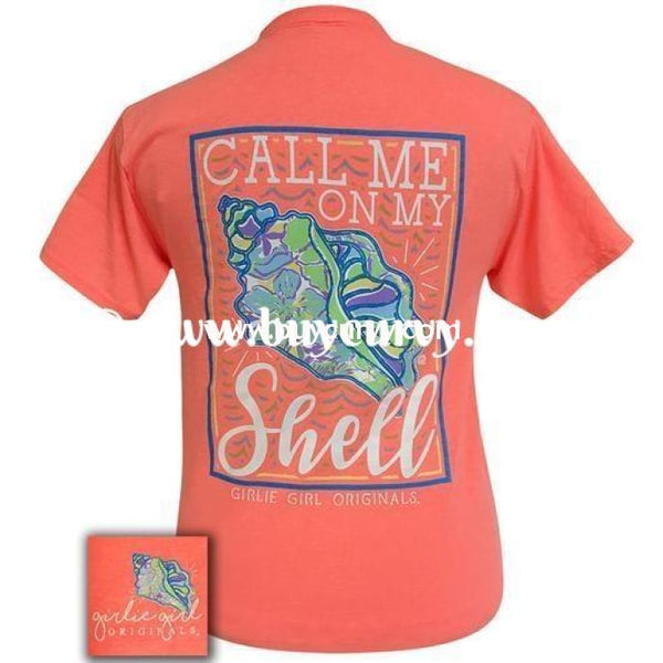 Gt-E Girlie Girl Coral Call Me On My Shell T-Shirt Graphic