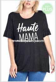 Gt-G {Haute Mama} Black/white Stretchy & Soft Sale!! Graphic