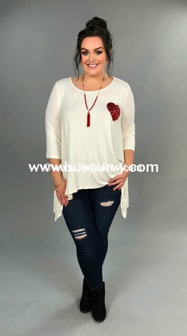 80d8eafe956da Gt-P  Extended Plus  Asymmetrical White With Heart Tunic Graphic. Add to  wishlist