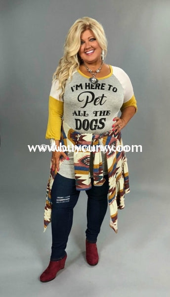Gt-P Im Here To Pet All The Dogs Gold Sleeved Sale!! Graphic