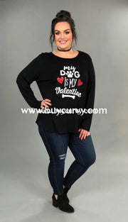 Gt-R My Dog Is Valentine Black Long Sleeved Sale!! Graphic