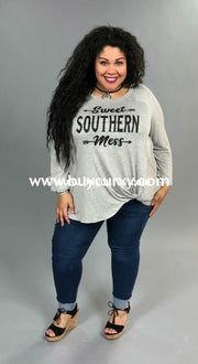 Gt-T Sweet Southern Mess Gray Graphic T-Shirt