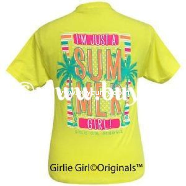 Gt-V Sale!! Girlie Girl Summer Neon Yellow Graphic