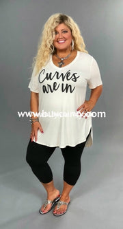 Gt-X Ivory {Curves Are In} Graphic V-Neck Sale!!