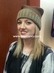 Hat-Ombre Style C.c. Beanie Brown/taupe Hats