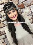 Hat-Original Style C.c. Beanie~Black/gold Metallic Hats
