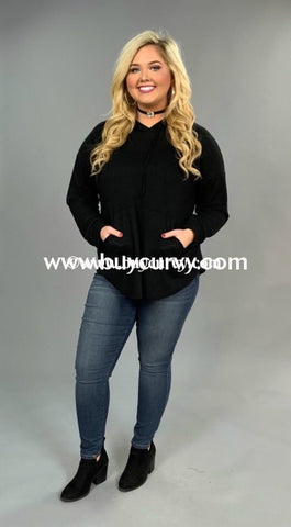 Hd-F {Maybe Shes Born With It} Black Waffle Knit Sale!! Hoodies