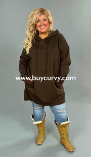 Hd-K {Lucky Girl} Long Hooded Sweatshirt With Side Pockets Hoodies