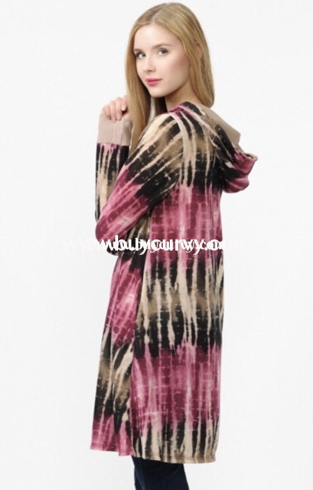 Hd M Chance To Dance Bamboo Tie Dye Long Hoodie Sale Curvy Boutique Plus Size Clothing