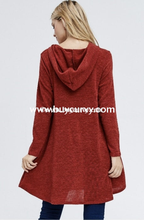 Hd-N {Need To Know} Maroon Knit Hoodie Dress With Pockets Hoodies