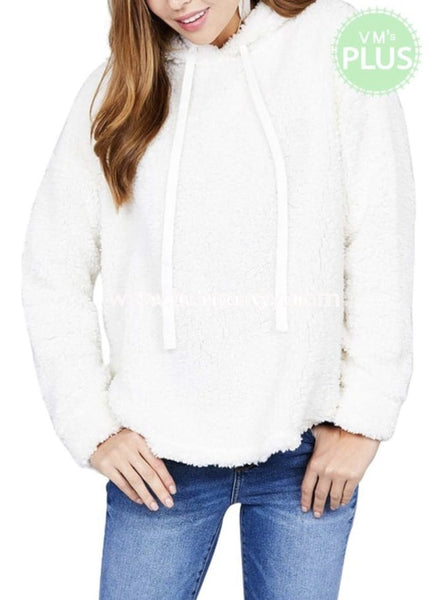 Hd-R {White Christmas} Soft White Fleece Hoodie Hoodies