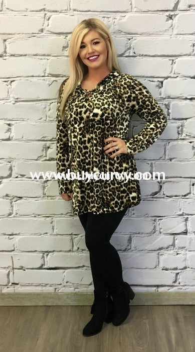 Hd-T {Buy Now} Leopard Velvet Tunic With Corset Detail Hoodies