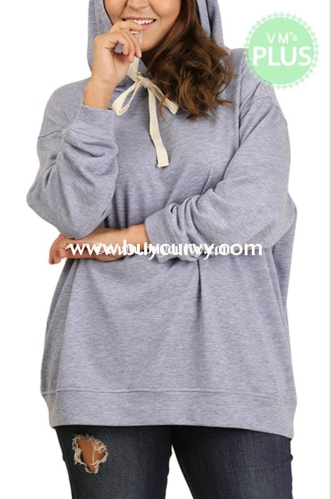 Hd-Z Umgee Blue Hoodie With Drawstring Hoodies