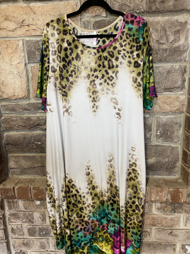 PSS-C {Wild Summer Nights} Animal Print Dress EXTENDED PLUS SIZE