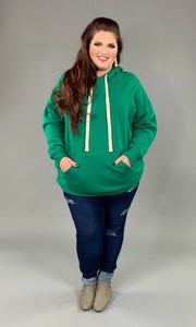 HD-O {Let's Be Casual}  SALE!! Green Sweatshirt Hoodie with Front Pocket
