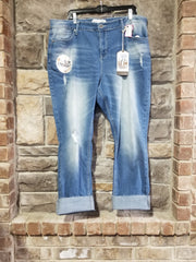 BT-N {Make The Grade} Medium Wash High Rise Slim Straight Jeans