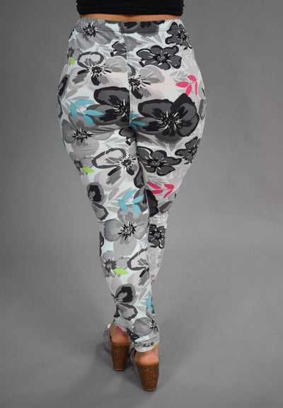 PLS/7 {Beach Baby} Sky Blue Floral Print (SOFT) Leggings