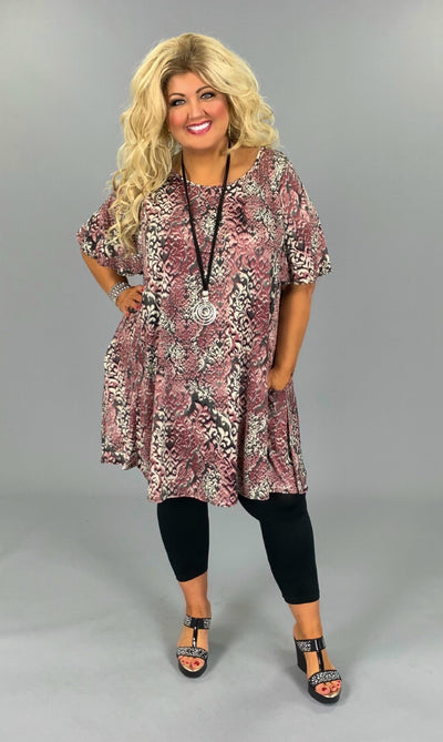 PSS-G (Adore Me ) Demask Printed Dress W/ Pockets EXTENDED PLUS 3X 4X 5X