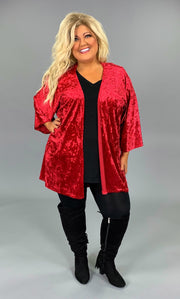 OT-A {Saved By The Bell} Red Velvet Wide Sleeve Cardigan SALE!