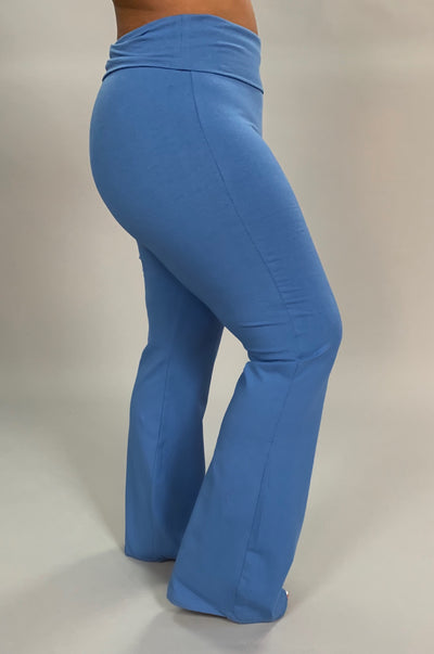 BT-K {I Like That} Blue Yoga Pants With Yoga Waistband