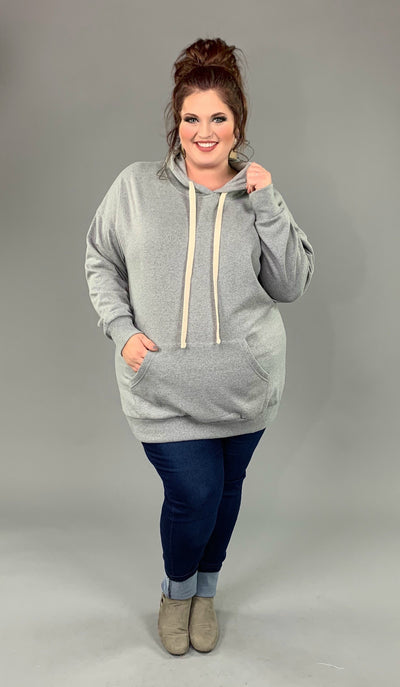 HD-P {Let's Be Casual}  SALE!! Gray Sweatshirt Hoodie with Front Pocket