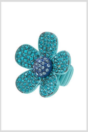 RG {It's A Bling Thing} Stretchy Stone Flower Ring