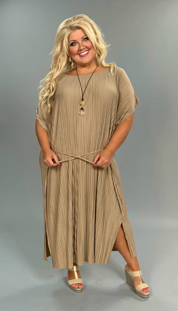 "LD-D  ""Sharp Lady"" Mocha Ruched w/ Tie  SALE!!"