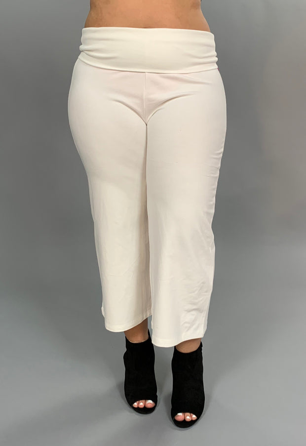 BT-V {Never Too Much} White Yoga Capri Pants PLUS SIZE