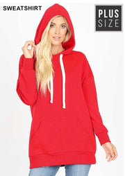 HD-R {Let's Be Casual}  SALE!! Red Sweatshirt Hoodie with Front Pocket